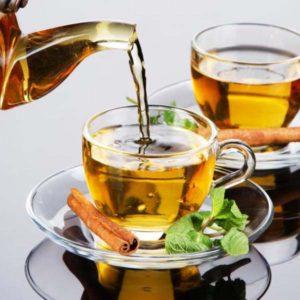 Чай мята с корицей