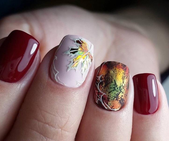 Осенние женские ногти