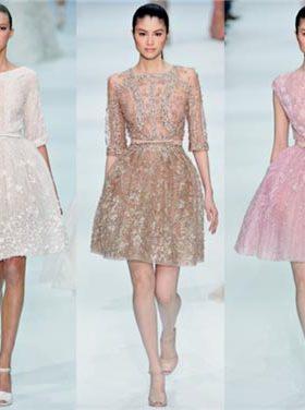 Бежевое розовое белое короткое платье