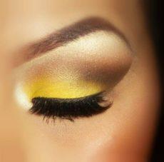 Желтый макияж на Новый Год