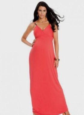 Оранжевое длинное платье