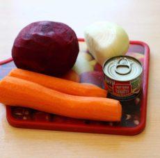 Ингредиенты для поджарки борща
