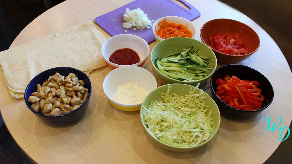Домашняя шаурма с курицей пошаговый рецепт